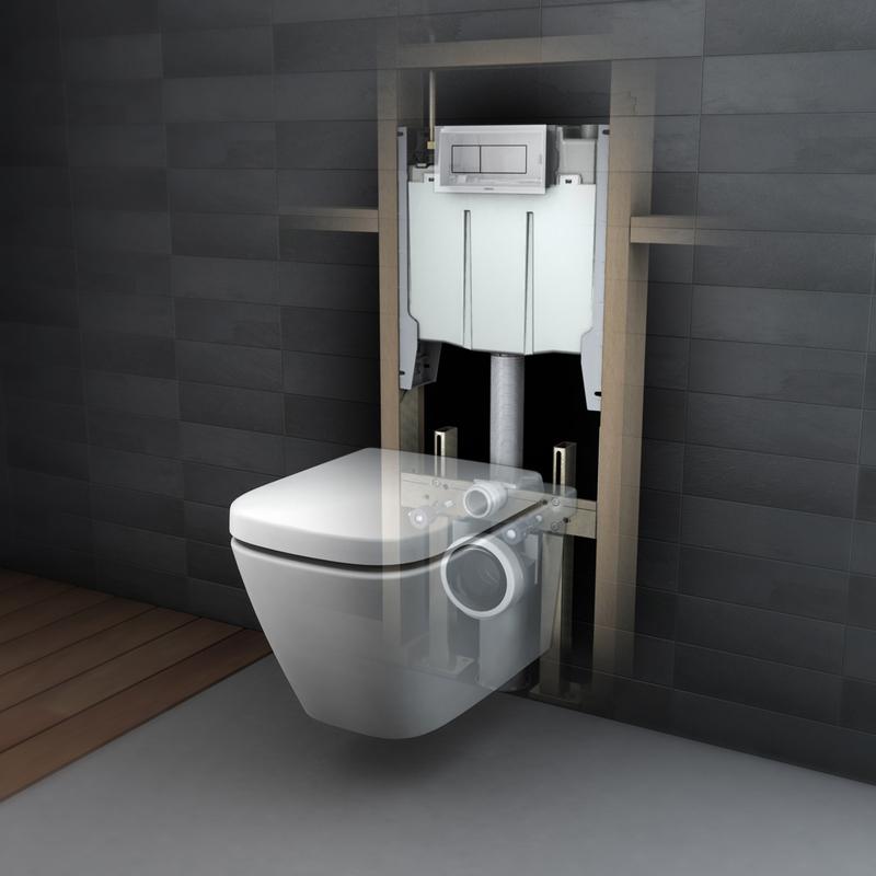 Caroma 壁掛隱藏式水箱馬桶 Cube 604300 衛浴台灣