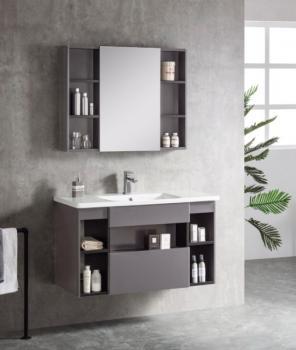 VOMLA VM3038K/W-100 不鏽鋼浴櫃組-黑/白-100(不含鏡子)