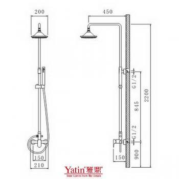雅鼎衛浴  組合淋浴龍頭  8003-13