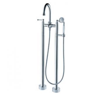 雅鼎衛浴   落地雙柱浴缸淋浴龍頭   8025-19