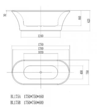 ARTO  浴缸/獨立缸   AR-BL-175B