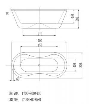 ARTO  浴缸/獨立缸   AR-DB-170B