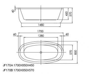 ARTO  浴缸/獨立缸   AR-JF-170B