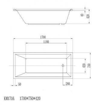 ARTO  浴缸/空缸  AR-KM-170A