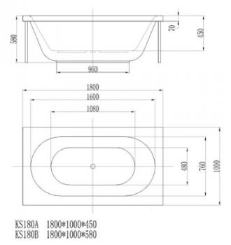 ARTO  浴缸/空缸   AR-KS-180A