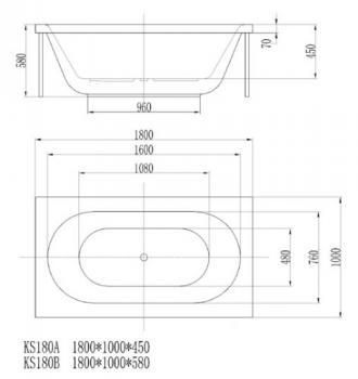 ARTO  浴缸/獨立缸   AR-KS-180B