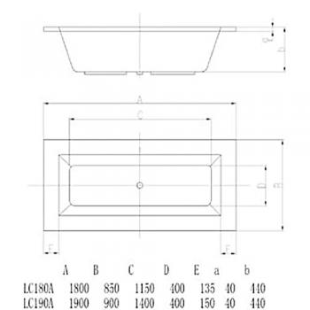 ARTO  浴缸/空缸   AR-LC-180A
