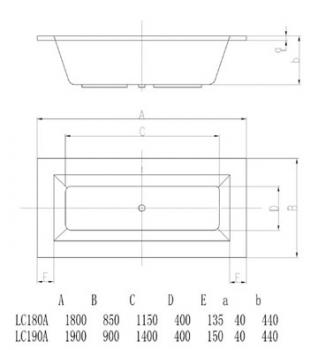 ARTO  浴缸/空缸   AR-LC-190A