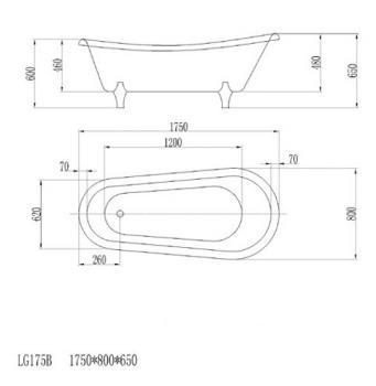 ARTO  浴缸/獨立缸   AR-LG-175B