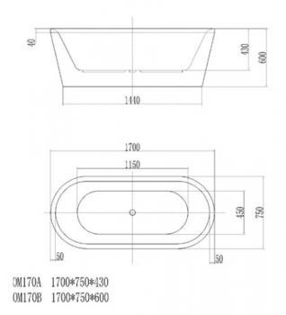ARTO  浴缸/獨立缸   AR-OM-170B