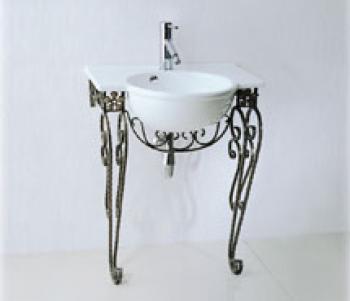 凱撒衛浴  檯面式瓷盆鍛鐵架組 LF5304_IS004