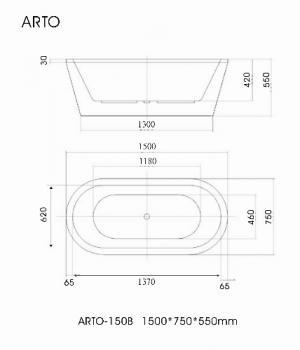 ARTO  浴缸/獨立缸   IIB-150B_IIB-170B
