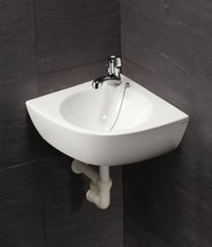 凱撒衛浴 壁掛式角落面盆 L2014H-B101CS