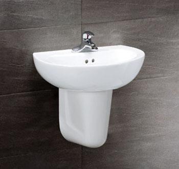 凱撒衛浴 壁掛式面盆配半瓷腳 L2150D-B262C