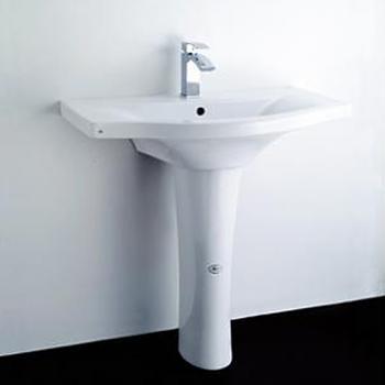 HCG 和成衛浴 壁掛式長柱腳面盆 LF161SLAdbR-3162