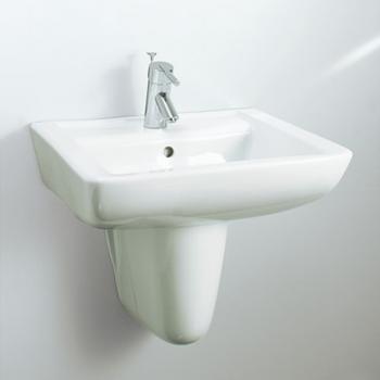 HCG 和成衛浴 壁掛式短柱腳面盆 LF257SAdbR-510