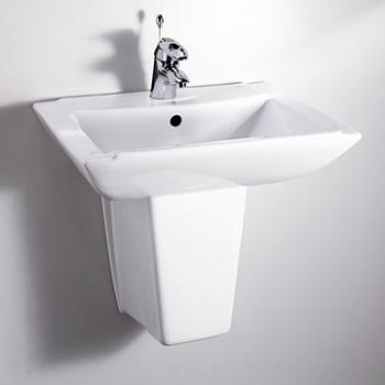 HCG 和成衛浴 壁掛式短柱腳面盆 LF259SAdbR-233