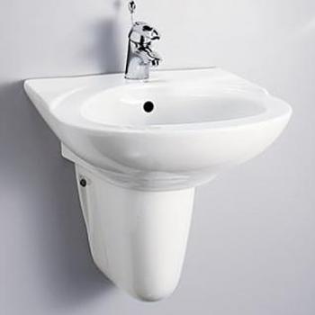 HCG 和成衛浴 壁掛式短柱腳面盆 LF333SAdbR-233