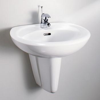 HCG 和成衛浴 壁掛式短柱腳面盆 LF367S-3188