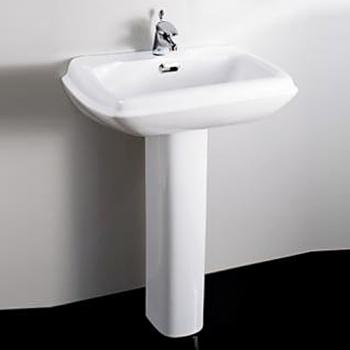 HCG 和成衛浴 壁掛式長柱腳面盆 LF4112SR-3103