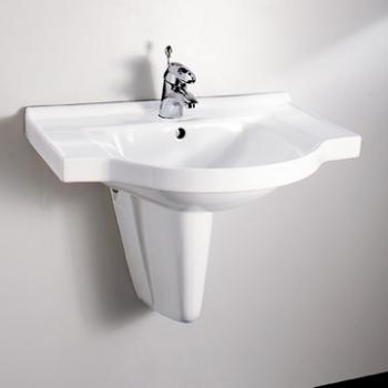 HCG 和成衛浴 壁掛式短柱腳面盆 LF4174S-233