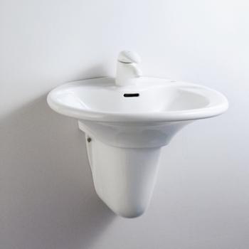 HCG 和成衛浴 壁掛式短柱腳面盆 LF4182SAdbR-3113PT