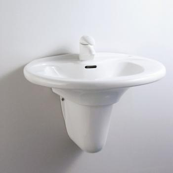 HCG 和成衛浴 壁掛式短柱腳面盆 LF4185SAdbR-3113PT