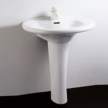 HCG 和成衛浴 壁掛式長柱腳面盆 LF4185SLAdbR-3113PT