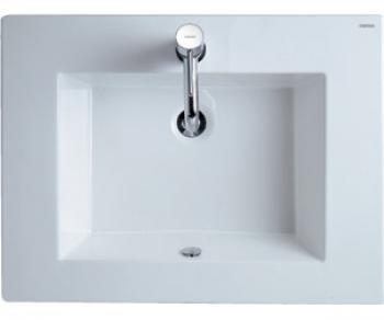 凱撒衛浴  一體方形瓷盆   LF5030_LF5032
