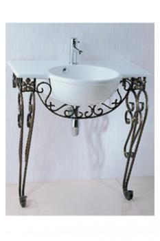 凱撒衛浴  檯面式瓷盆鍛鐵架組 LF5306_IS006