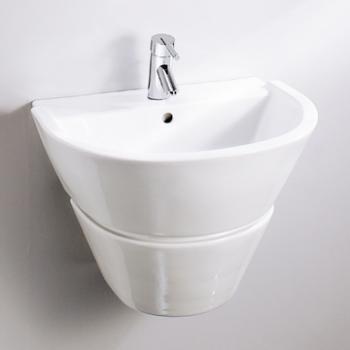 HCG 和成衛浴 壁掛式短柱腳面盆 LF5513NSAdbR-510