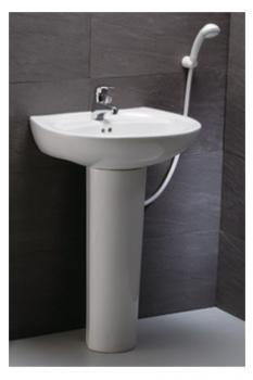 凱撒衛浴 壁掛式面盆配長瓷腳 LP2220S-B136C