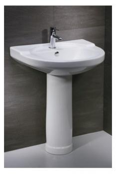 凱撒衛浴 壁掛式面盆配長瓷腳 LP2250S-B210C