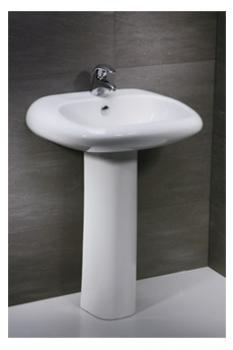 凱撒衛浴 壁掛式面盆配長瓷腳 LP2560S-B150C
