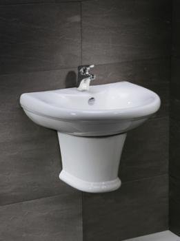 凱撒衛浴 壁掛式面盆配半瓷腳 LS2230S-B120C