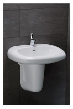 凱撒衛浴 壁掛式面盆配半瓷腳 LS2560S-B305C