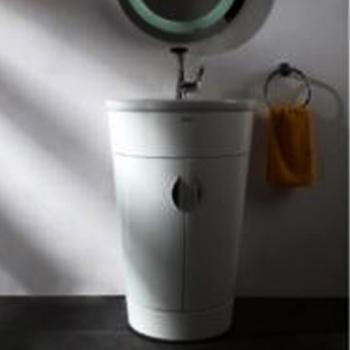 BRAVAT  錐形浴櫃_白色  MA001W-1