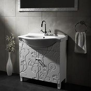 BRAVAT  雕花雙門浴櫃組  MA015W-T