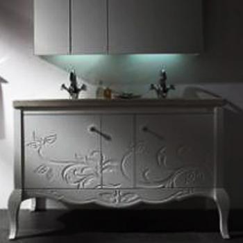 BRAVAT  水晶雕花浴櫃組  MA018W-T