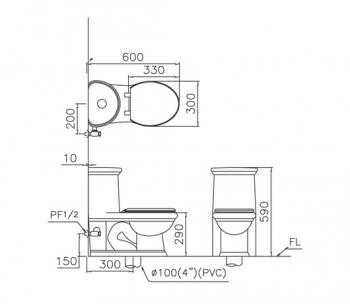 凱撒衛浴 兒童馬桶 C1355