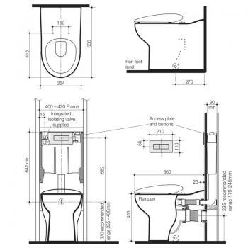 Caroma 隱藏式水箱馬桶 Flex-710100