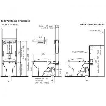Caroma 隱藏式水箱馬桶 Leda-712100W