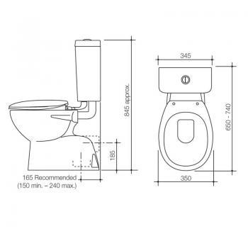 Caroma 落地式分體馬桶 Opal-921125W