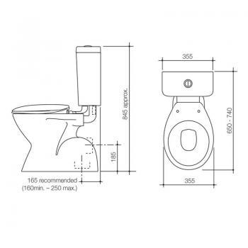 Caroma 落地式分體馬桶 Opal-921140W