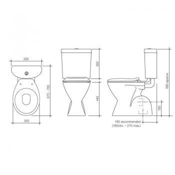 Caroma 分體馬桶 Profile-912443W