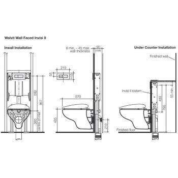Caroma 壁掛隱藏式水箱馬桶 Walvit-723100